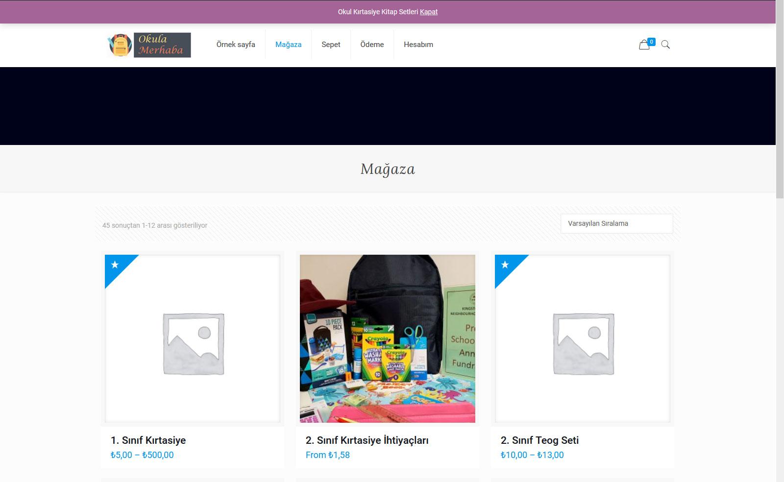Kırtasiye Sektörüne Özel E-Ticaret Site Yazılımı